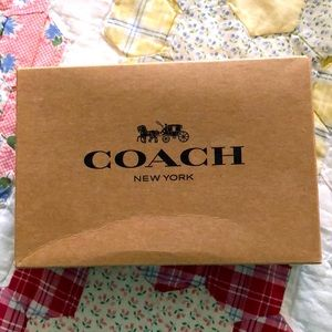 Coach Leather Phone Wallet Brown with box